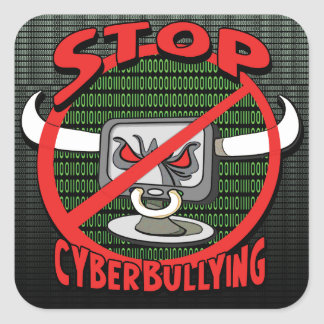 Selle hacia fuera la parada Cyberbullying Pegatina Cuadrada