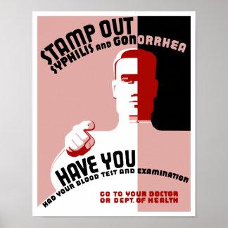 Selle hacia fuera la sífilis y la gonorrea -- WPA Póster