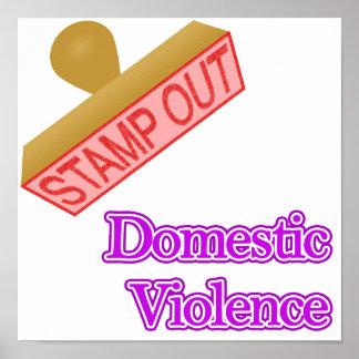 Selle hacia fuera la violencia en el hogar impresiones