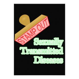 Selle hacia fuera las enfermedades de transmisión invitacion personalizada