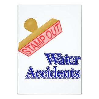 """Selle hacia fuera los accidentes del agua invitación 5"""" x 7"""""""
