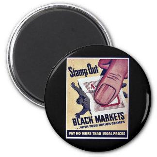 Selle hacia fuera los mercados negros con sus sell iman para frigorífico