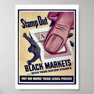 Selle hacia fuera los mercados negros con sus sell posters