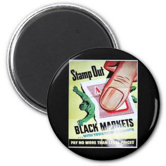 Selle hacia fuera los mercados negros imanes