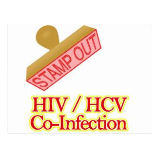Selle hacia fuera VIH - Co-Infección de HCV Tarjetas Postales