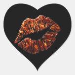 séllelo con un beso pegatina en forma de corazón