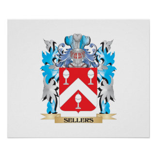 Sellers Coat of Arms - Family Crest Poster