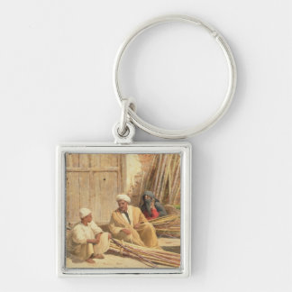 Sellers of Sugar Cane, Egypt, 1892 (oil on canvas) Keychain