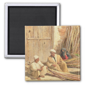 Sellers of Sugar Cane, Egypt, 1892 (oil on canvas) Magnet