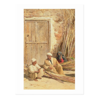 Sellers of Sugar Cane, Egypt, 1892 (oil on canvas) Postcard