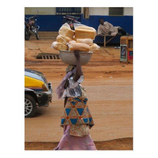 Selling Bread in Ghana Post Cards