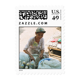 Selling Dried Fish Postage Stamps