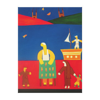 Selling Fish at the Bosphorus 2003 Canvas Print