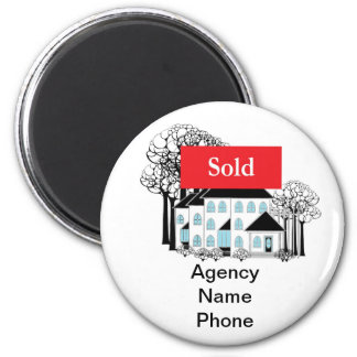 Selling Real Estate Promote Your Business 2 Inch Round Magnet