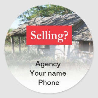 Selling Real Estate Promote Yourself Classic Round Sticker