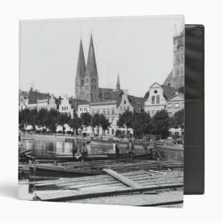 Selling wood on the River Trave, Lubeck, c.1910 3 Ring Binder