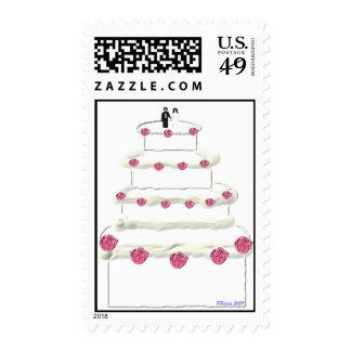 Sello 13 del pastel de bodas