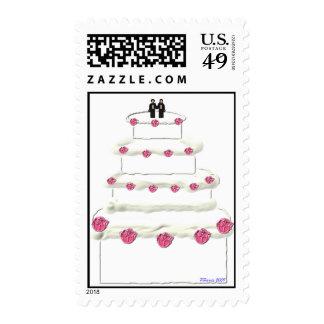 Sello 14 del pastel de bodas