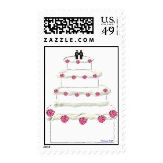 Sello 16 del pastel de bodas