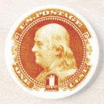 Sello 1869 de Benjamin Franklin Posavasos Para Bebidas