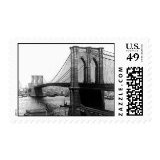 Sello 1900 del puente NYC de East River