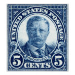 Sello 1922 de Teddy Roosevelt Posters