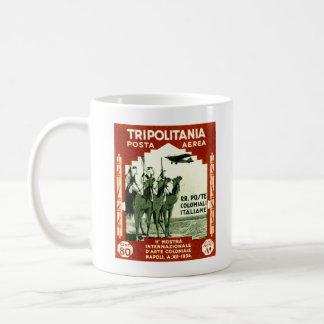 Sello 1934 del centesimi de Tripolitania 80 Taza