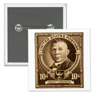 Sello 1940 del Booker T. Washington Pin Cuadrada 5 Cm