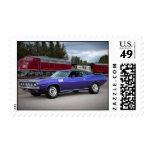 Sello 1971 de Cuda del Barracuda de Plymouth