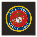 Sello 1 del Cuerpo del Marines Impresiones