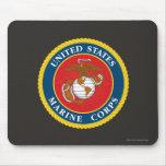 Sello 1 del Cuerpo del Marines Tapetes De Ratón