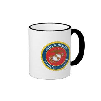 Sello 1 del Cuerpo del Marines Taza De Dos Colores