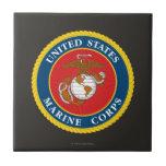 Sello 1 del Cuerpo del Marines Teja Ceramica