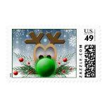 Sello 2013 del navidad de USPS del reno del día de