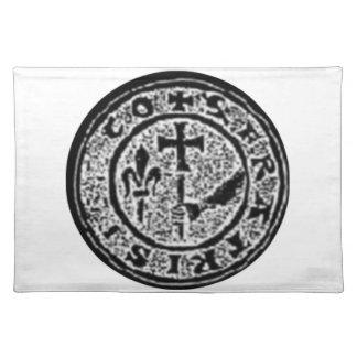 Sello #2 de Templar de los caballeros Mantel Individual