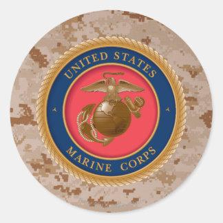 Sello 2 del Cuerpo del Marines Pegatinas Redondas