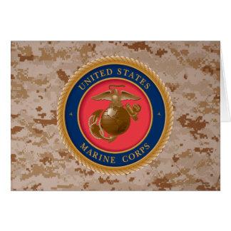 Sello 2 del Cuerpo del Marines Tarjeta