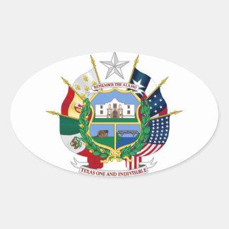 Sello 2 del estado de Tejas Calcomania De Óval Personalizadas