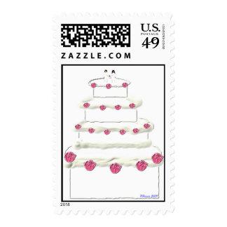 Sello 2 del pastel de bodas