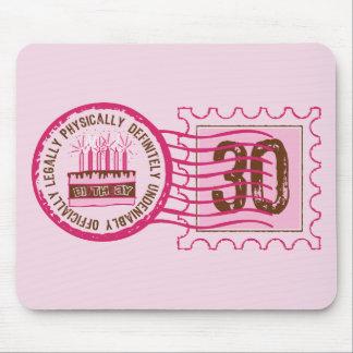Sello 30 Mousepad del cumpleaños