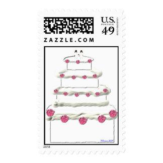 Sello 4 del pastel de bodas