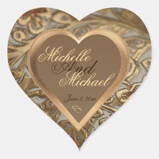 Sello adaptable del sobre del boda del recuerdo pegatina de corazón