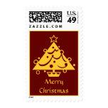 Sello adornado de oro del árbol de navidad