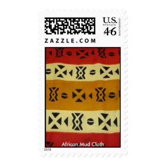 Sello africano rojo y amarillo del paño del fango