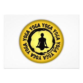 Sello agradable de la yoga comunicados personalizados
