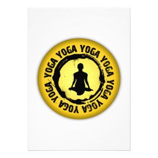 Sello agradable de la yoga invitaciones personales