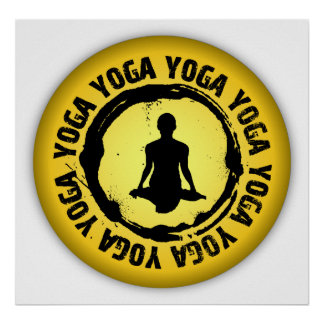 Sello agradable de la yoga poster
