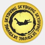 Sello agradable de Skydiving Etiqueta Redonda