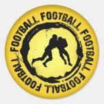 Sello agradable del fútbol pegatina redonda