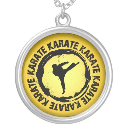 Sello agradable del karate colgante redondo